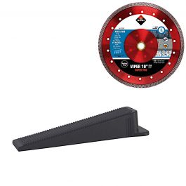 "Rubi Delta Tile Leveling Wedges (1,200/Box) w/FREE VIP 4"" Diamond Blade"