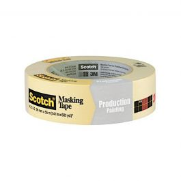 "3M 2020-36A Scotch General Purpose Masking Tape, 1-1/2"" x 60 yd Roll"
