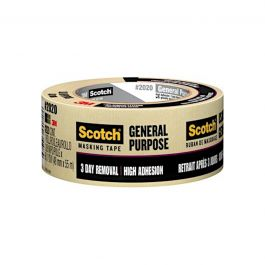 "3M 2020-48A Scotch General Purpose Masking Tape, 2"" x 60 yd Roll"