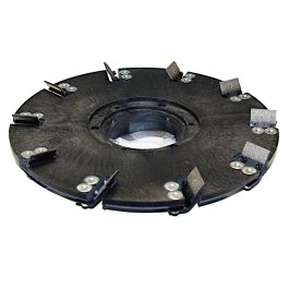 "Diamabrush 16"" 10 Blade Coating Removal Tool w/NP-9200 Clutch Plate & Riser"