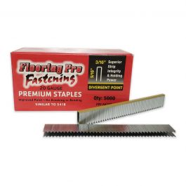 "Flooring Pro 5418D 9/16"" Carpet Staples (5,000/Box)"
