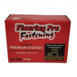 "Flooring Pro 7512D 3/8"" Carpet Pad Staples (5,000/Box)"