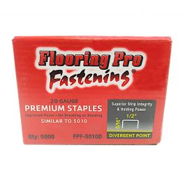 "Flooring Pro 5010D 5/16"" Carpet Pad Staples (5,000/Box)"
