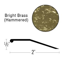 "Futura 2"" Bright Brass Deluxe Binder Bar, 12' Length"