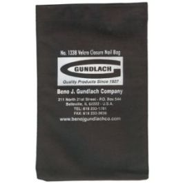 Gundlach 133B Black Nail Bag with Velcro Closure