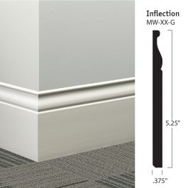"Johnsonite MW-XX-G Inflection 5-1/4"" Millwork Wall Base (48 ft/ctn)"
