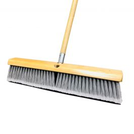 "Magnolia Brush 3718 18"" Flagged Plastic Floor Broom w/Handle"