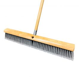 "Magnolia Brush 3724 24"" Flagged Plastic Floor Broom w/Handle"