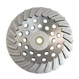 "National 3420-2 7"" 24-Seg Diamond Cup Wheel"