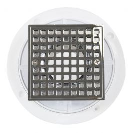 Noble PVC Shower Drain with Square Chrome Strainer