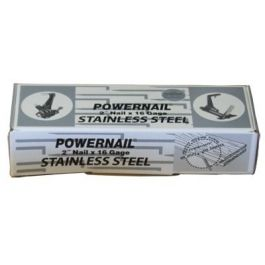 """Powernail 16 Gage 2"""" Stainless Steel Powercleats (1,000/box)"""