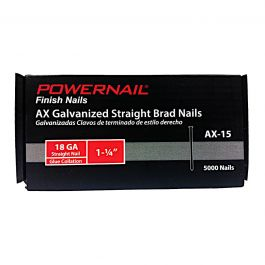"Powernail AX-15 1-1/4"" 18-Gauge Brad Nails (5,000/Box)"
