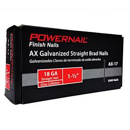 "Powernail AX-17 1-1/2"" 18-Gauge Brad Nails (5,000/Box)"