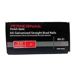 "Powernail AX-21 2"" 18-Gauge Brad Nails (5,000/Box)"