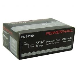 "Powernail 5010D 5/16"" Divergent Point Staples (5,000/box)"