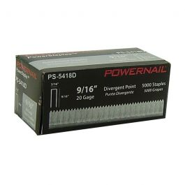 "Powernail 5418D 9/16"" Carpet Staples (5,000/box)"
