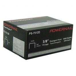"Powernail 7512D 3/8"" Carpet Pad Staples (5,000/box)"