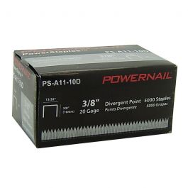 "Powernail A11-10D 3/8"" Divergent Point Staples (5,000/box)"