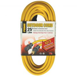 Prime Wire EC500825 25 ft. 12/3 Extra Heavy Duty Extension Cord