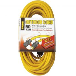 Prime Wire EC500830 50 ft. 12/3 Extra Heavy Duty Extension Cord