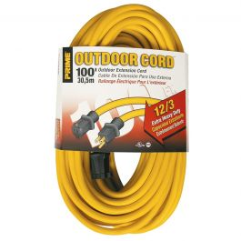 Prime Wire EC500835 100 ft. 12/3 Extra Heavy Duty Extension Cord