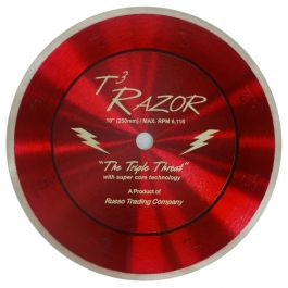 "RTC 10"" T3 Razor Super Core Diamond Blade"