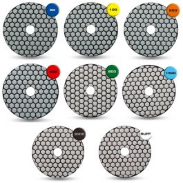 "Rubi 4"" Dry Polishing Pads"