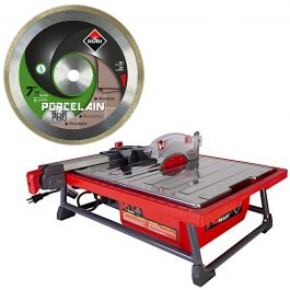 "Rubi ND-7"" Ready Table Tile Saw w/FREE Porcelain Pro 7"" Blade"