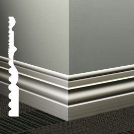 "Johnsonite MW-XX-A Diplomat 4-1/2"" Millwork Wall Base (48 ft/ctn)"