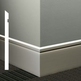 "Johnsonite MW-XX-F Reveal 4-1/4"" Millwork Wall Base (64 ft/ctn)"