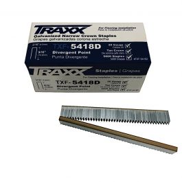 "Traxx TXF-5418D 9/16"" Carpet Staples (5,000/Box)"