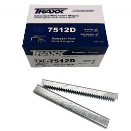 "Traxx TXF-7512D 3/8"" Carpet Pad Staples (5,000/Box)"