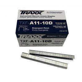 "Traxx TXF-A11-10D 3/8"" Carpet Pad Staples (5,000/Box)"
