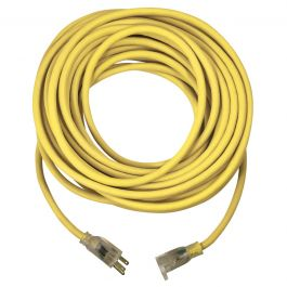 USW 74050 12/3 50 ft. SJTW Yellow Outdoor Lighted Extension Cord