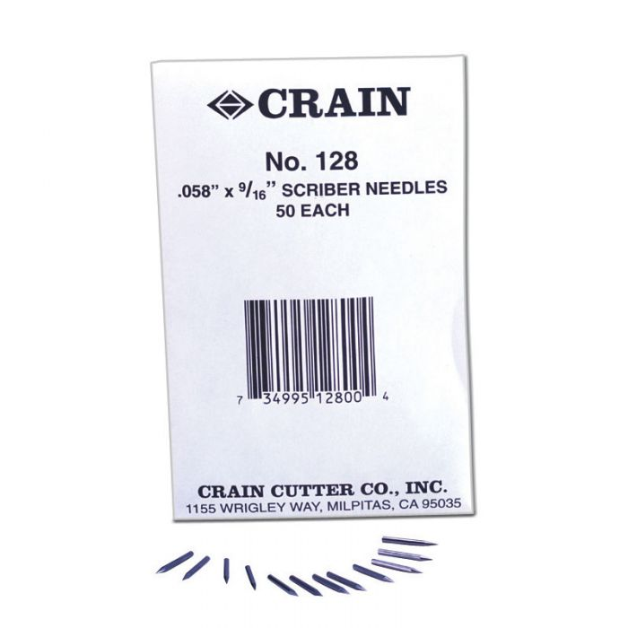 Crain 128 Scriber Needles (50 Pack)