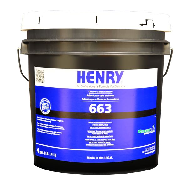 Henry 663 Outdoor Carpet Adhesive, 4 Gal. Pail