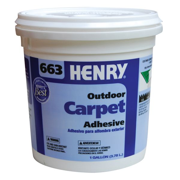 Henry 663 Outdoor Carpet Adhesive, Gallon