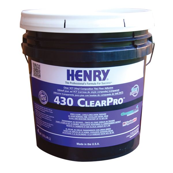 Henry 430 ClearPro VCT Floor Adhesive, 4 Gal. Pail