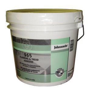 Johnsonite 965 Flooring and Tread Adhesive, 4 Gal. Pail