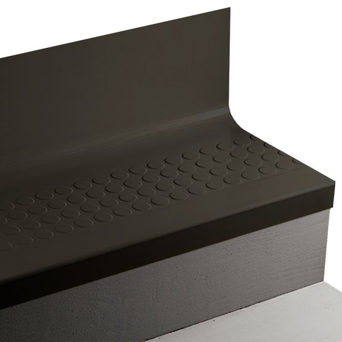 Johnsonite RNRDTR Raised Round Angle Fit Rubber Stair Treads w/Risers