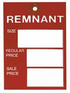 National #40 Red Remnant Tags (Pkg of 100)