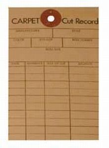 National #41 Carpet Cut Record Tags (Pkg of 100)