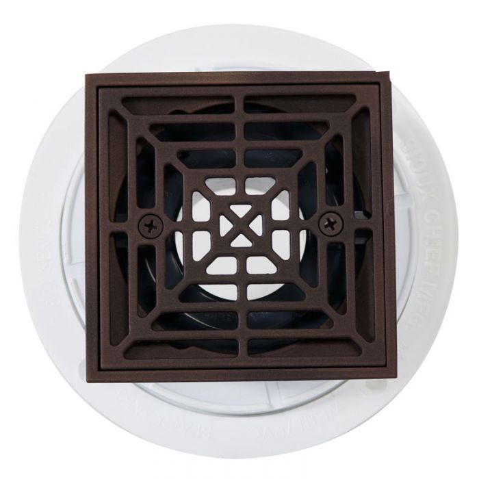 Noble Pvc Shower Drain With Square Oil Rubbed Bronze Strainer