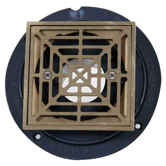 Noble ABS Shower Drain with Square Nickel Bronze Strainer