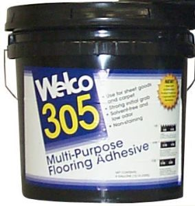 Welco 305 Multi-Purpose Flooring Adhesive, 4 Gal. Pail